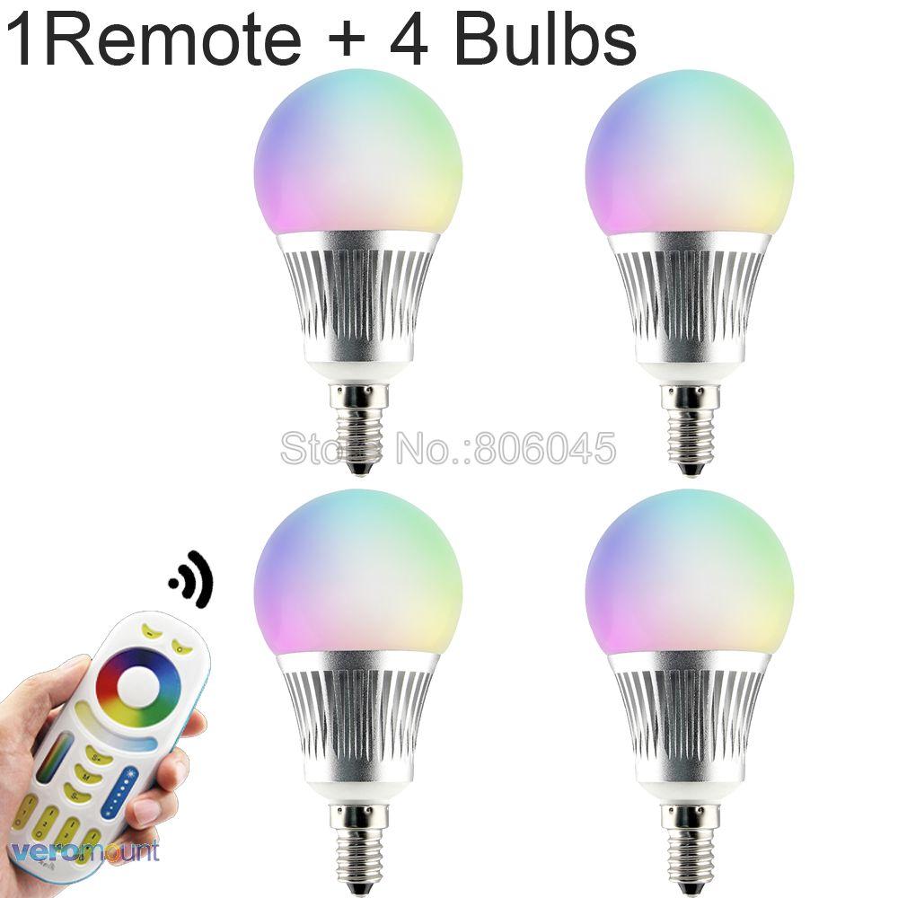 MiLight E14 5W RGB+CCT LED Bulb Smart Dimmable LED Spotlight FUT013 AC 86-265V 2.4G RF Wireless Remote WiFi APP Control