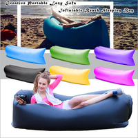 2016 Unique 10s Inflatable Laybag Sleeping Bag Leisure Hang Out Lounger Air Camping Sofa Beach Nylon