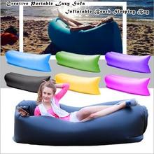 Уникальный 10 s надувные laybag спальный мешок для отдыха болтаться шезлонг диван Кемпинг пляж нейлон Ткань кровать спать Гамаки