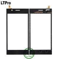 LTPro Al Por Mayor de Calidad SUPERIOR Negro Outer Panel Táctil de Cristal Digitalizador de Pantalla Para Lenovo K900 Teléfono Sensor de piezas de Repuesto