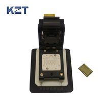 LGA52 LGA60 NAND flash memory chip test socket jig fixture, changing serial number with FPC 64 bit ic chip programmer machine repair mainboard nand flash hard disk hdd serial number sn for iphone 5s 6 plus ipad air 2 3