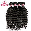 Queen Hair Products Brazilian Virgin Hair Loose Deep Wave 4 Bundles 7A Unprocessed Human Hair Queen Hair More Wave/ Natural Wave