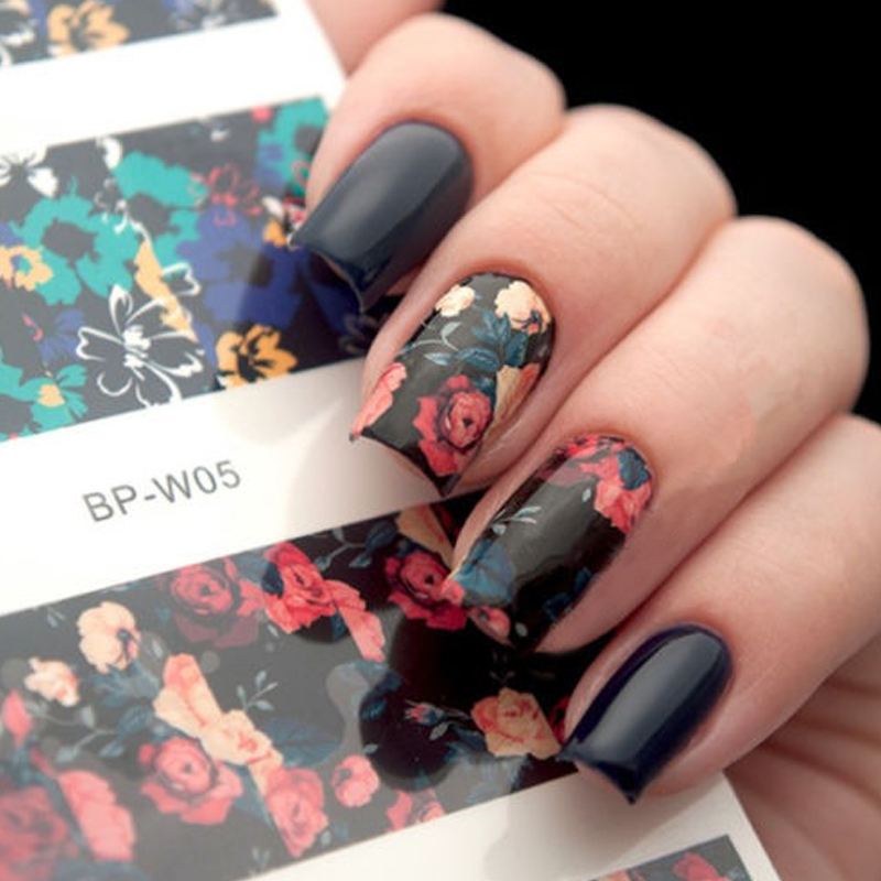 BORN PRETTY Flower Painting Nail Art Water Decals Transfer Sticker BP-W05 2 Patterns/Sheet #20596 ободки pretty mania ободок