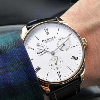 2020 Luxury Man Parnis Power Reserve Automatic Watch Mechanical Self Winding Men Watches mekanik kol saati relogio automatico