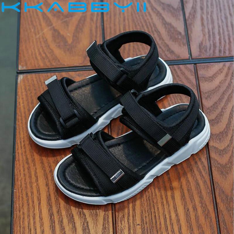 Boys Sandals Summer Sneakers Kids Shoes Infantil Boys Beach Sandals Casual Fashion Soft Flat Shoes Size 26-36