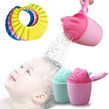 Милая мультяшная детская душевая ложка, насадка для полива, бутылочка для детей, мытье волос, Байлер, шампунь, чашка и колпачок, инструмент для ухода за младенцем