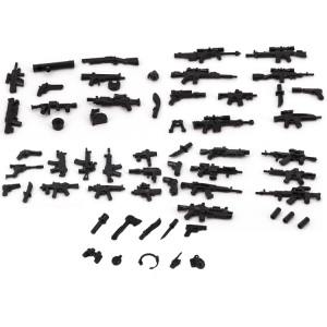 8 Style Swat Police Military Weapon Accessories Playmobil City Figures Parts Original Blocks Model Mini Toy & Hobbies(China)