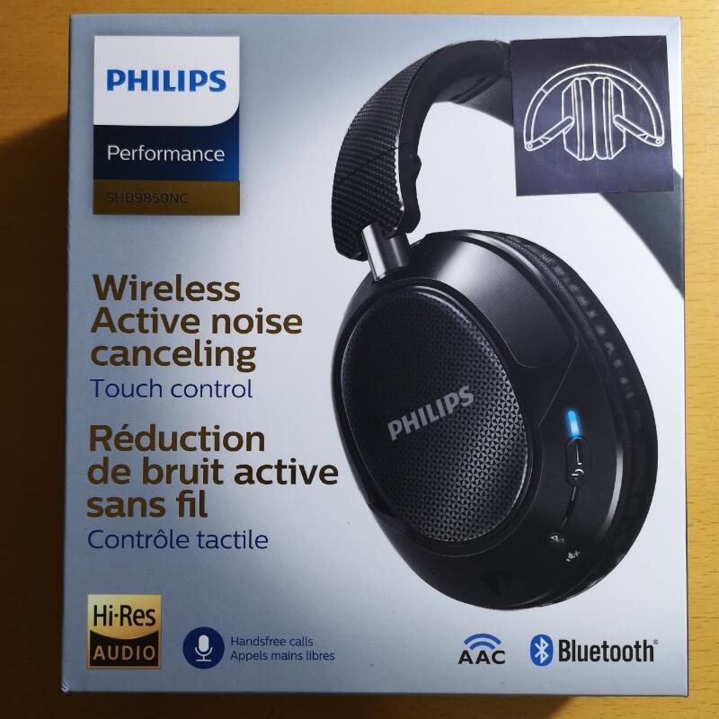 Original Philips SHB9850 Active Noise Cancelling Wireless Bluetooth Headphones NFC Headset with Microphone Official Verification