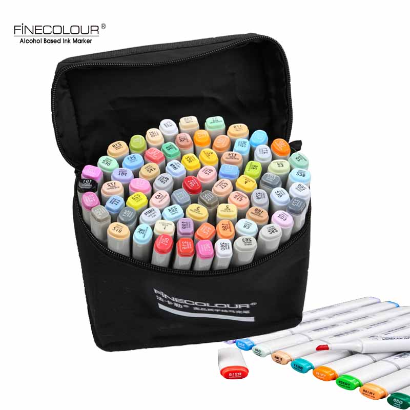 72 colors Dual Tip Art Sketch Markers Brush Tip Markers for Manga Drawing Design Architecture Alcohol Based School Supplies
