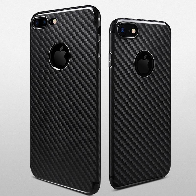 Untuk IPhone7 7 ditambah kasus shell ponsel pola serat karbon - Aksesori dan suku cadang ponsel - Foto 6