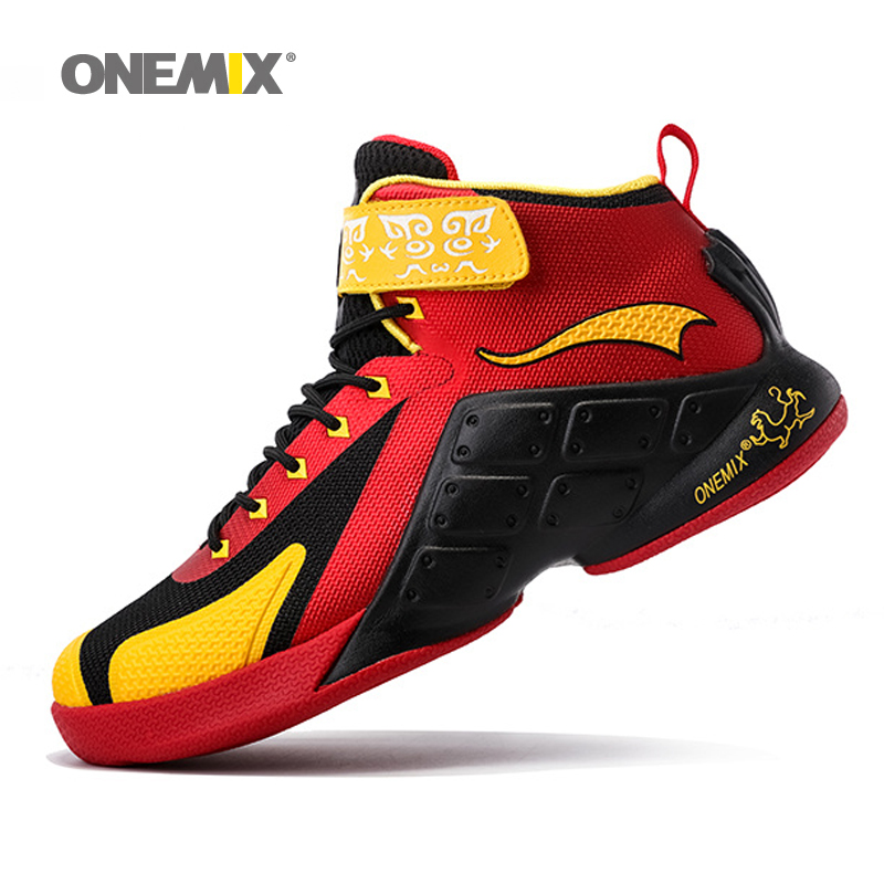 ONEMIX Men Basketball Shoes 2017 Male Ankle Boots Anti-slip Outdoor Sport Sneakers Men Athletic Shoes High-Top Rubber Sneakers peak sport men outdoor bas basketball shoes medium cut breathable comfortable revolve tech sneakers athletic training boots