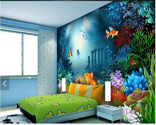 3d Wallpaper Custom 3d Wall Murals Wallpaper Sea Creatures Children Wall Of  Setting Of The Head Part 53