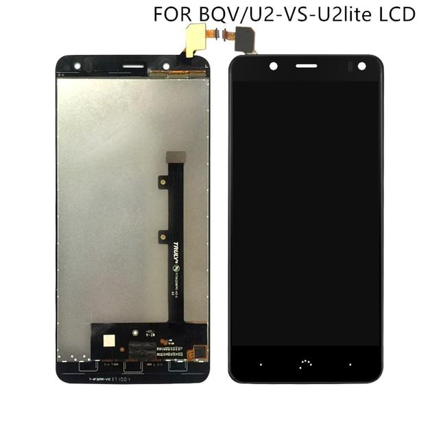 """מתאים עבור BQ Aquaris V תצוגה עם מסך מגע digitizer עבור BQ U2 U2 לייט LCD מסך Accessroeis 5.2"""" משלוח חינם"""