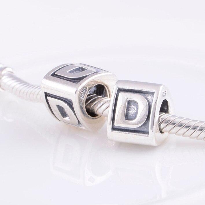 pandora silver letter charms