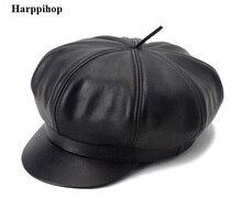 Натуральная кожа шляпы шапки 2014 новых студентов моды натуральная кожа шапки Досуг военные шапки женщины и мужчины унисекс шляпы