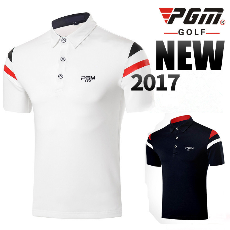 2017 PGM new golf Polo shirts male short-sleeve Breathable Quick Dry Golf T-shirt High Quality summer mens Golf sportwear