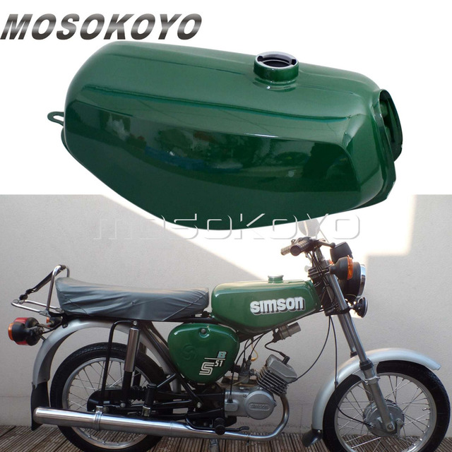 gloss green motorcycle vintage oil tank classic gas fuel tank for