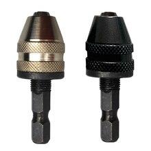LHX BXY121 1/4 Keyless Drill Bit Чак M8x0.75MM Изменить Адаптер Конвертер Шестигранным Хвостовиком Зажима Инструмента Отвертка Сверла Патроны