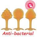 Nueva Llegada de Plata Nano Mordedor-Sin BPA de Alta Calidad Anti-bacterial Mordedor Bebé 2016 Bebé Cuidado Dental cepillo de Dientes de silicona