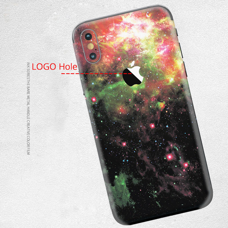 New Cool Stickers For iPhone 7 Back Film Protective Cover Stickers For iPhone 7 Phone Color Back Film Paster Space Star Series in Phone Sticker Back Flim from Cellphones Telecommunications