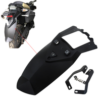 Black Motorcycle Rear Tire Hugger Fender Mudguard Extensions For BMW F800GS ADV F700GS F650GS 08 17