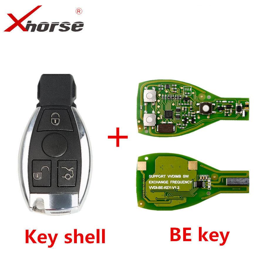 Xhorse VVDI BE Key Pro Improved Version with Smart Key Shell 3 Button for Mercedes Benz Complete Key Package цены