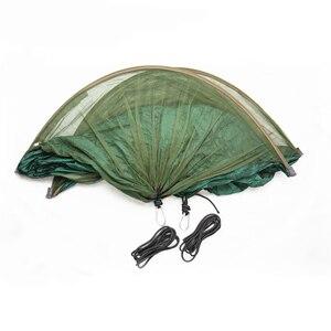 Image 3 - Hamaca portátil multiuso para acampar, senderismo, viaje, con mosquitera, saco, columpios en forma de unnel, cama, tienda de uso al aire libre