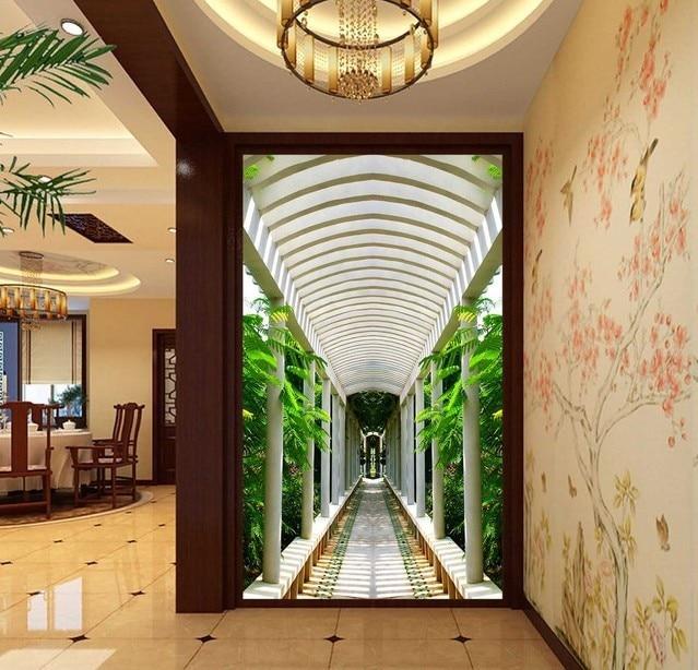 foto d paisaje natural pasillo de entrada de papel tapiz mural wallpaper para paredes