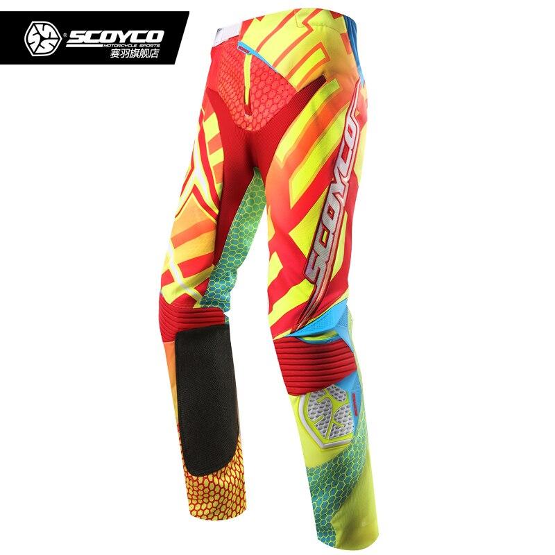SCOYCO Motorcycle Racing Trousers Motocross Pants Motorbike Combo Set Motocross Off Road Dirt Bike MTB DH MX Clothing
