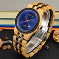 Модные мужские кварцевые часы из натурального дерева и бамбука  Мужские Простые аналоговые наручные часы  подарок Relogio Feminino 142A