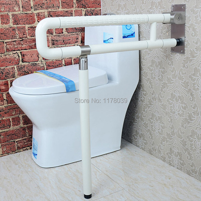Bathroom Safety Grab Bars,Yellow And White Stainless Steel Grab Bars,Old  People And