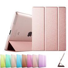 Rbp couverture case pour ipad 2 3 4, pu transparent retour ultra mince pour ipad4 case lumière poids trifold smart cover pour ipad 2 case