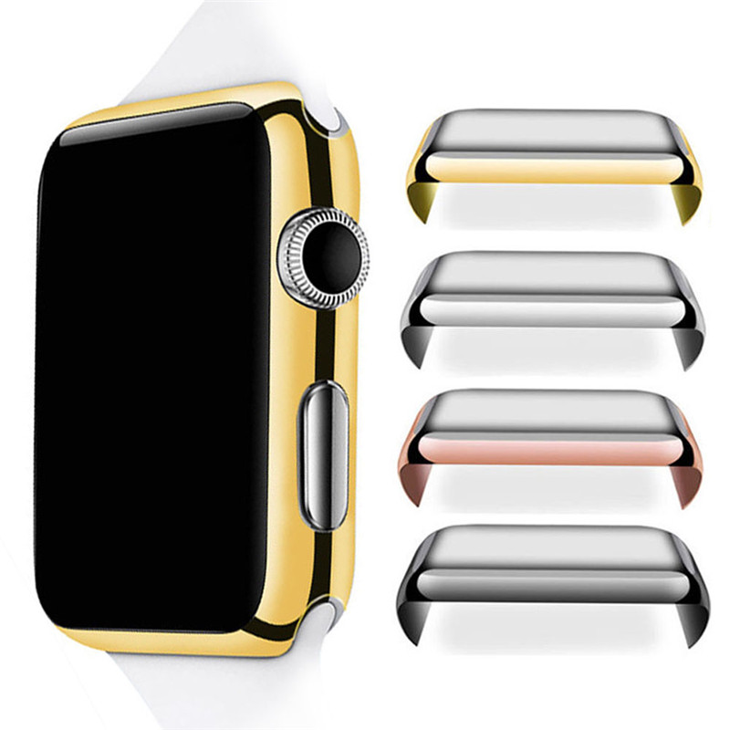 Watch Accessories For Apple Watch 38mm 42mm Protective Snap-On Case With Built-in Screen Protector Full Cover For iWatch PC Case