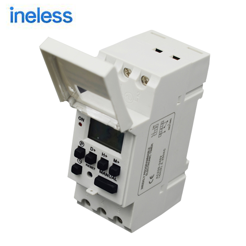 Microcomputer Electronic Weekly Programmable Digital TIMER SWITCH Time Relay Control 220V AC 16A Din Rail Mount цена