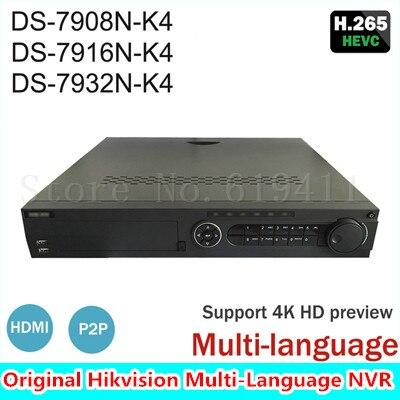 Hik 8 16 32CH 4K Network font b Video b font Recorder DS 79XXN K4 Series