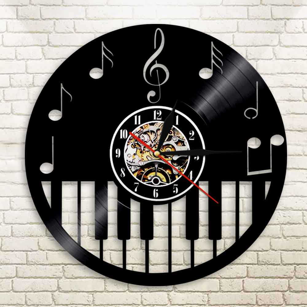 Aliexpress buy 1piece play the piano music led vinyl wall aliexpress buy 1piece play the piano music led vinyl wall clock lp vintage backlight modern handmade gift record cool interior decorative light from amipublicfo Images