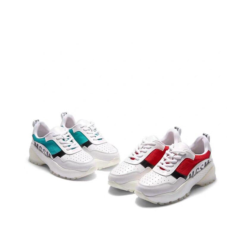 Suela Plataforma Zapatos Tenis 2019 Lujo Las Femenino Papá Mixto Deporte Casuales De Delivr Color Casual Gruesa Green Mujeres red Zapatillas Mujer 5gS1Oq