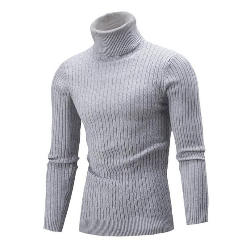 Autumn And Winter Men's New Warm Long-sleeved Men Sweaters Fashion Brand Casual Simple Solid Color Twist Cotton Mens Sweater
