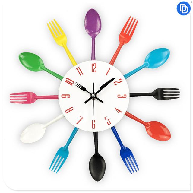 Creative Modern Design Cutlery Wall Clock For Home Decor