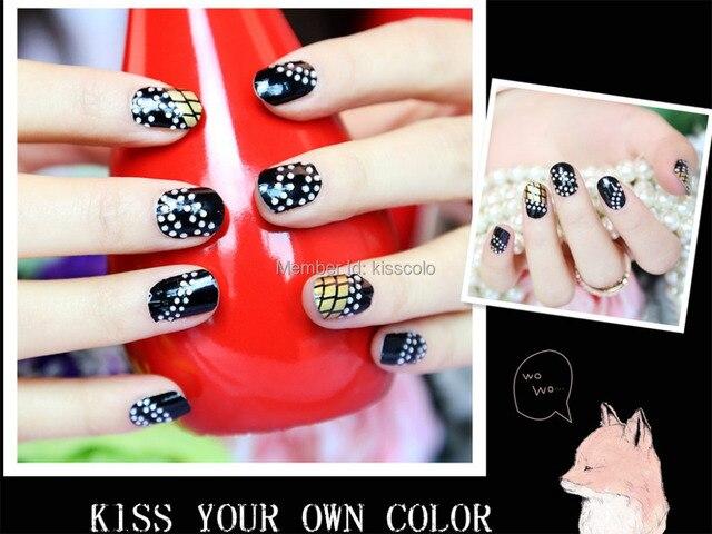 Kisscolo silver rhinestones design nail polish strips wholesale 3d ...