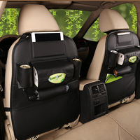 Tancredy New Car Seat Storage Bag Leather Hanging Bags Car Seat Cover Multifunction Auto Storage Box