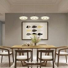Modern nordic minimalist pendant light creative acryl LED hanging kitchen dinner room cafe bar lamp indoor lights e27