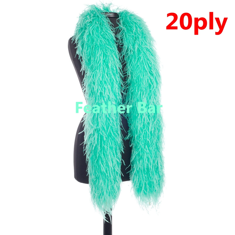 ostrich feather boa Teal 2ply
