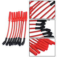 8 Pcs Set Ignition Spark Plug Wire Cable Set Super Conductor Thick 10mm High Performance For