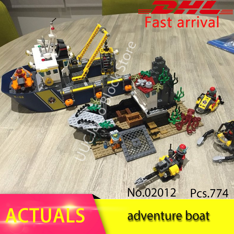 LEPIN City Series 02012 Deepwater Exploration Vessel Children Educational Building Blocks Bricks Toys Model Funny Boy Gift 60095 sermoido 02012 774pcs city series deep sea exploration vessel children educational building blocks bricks toys model gift 60095