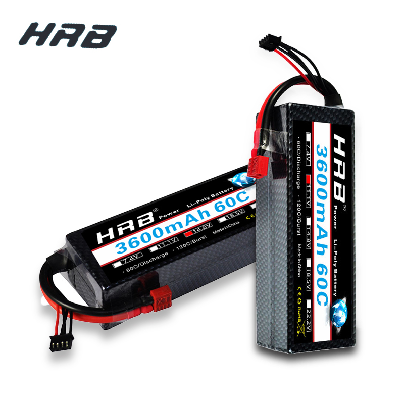 HRB FPV Lipo 2S 3S 4S 3600mAh 7.4V 11.1V 14.8V 60C 120C W Stap Hard Case Battery For RC Car FPV Quadcopter Helicopter AirplaneHRB FPV Lipo 2S 3S 4S 3600mAh 7.4V 11.1V 14.8V 60C 120C W Stap Hard Case Battery For RC Car FPV Quadcopter Helicopter Airplane