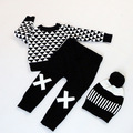 Boys Cross Children Knit Harem Pants sweaters 2016 spring Autumn New Fashion Toddler Child Tiny Cotton Sweater Baby Clothes 1-5T