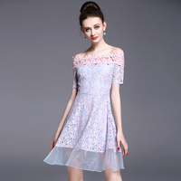 Make A Word Shoulder Lace Dress Female Organza In Long Summer New Cultivate One S Morality