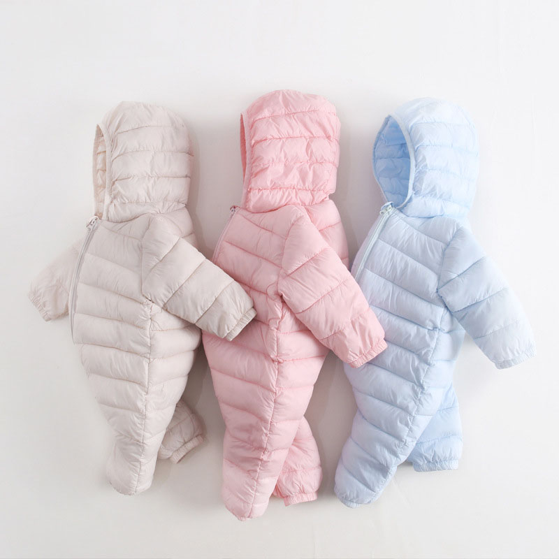 Winter Infant Down Cotton Baby Rompers Boys Thick Costume Girls Warm Snowsuit Kids Jumpsuit Children Outerwear Baby Wear P125