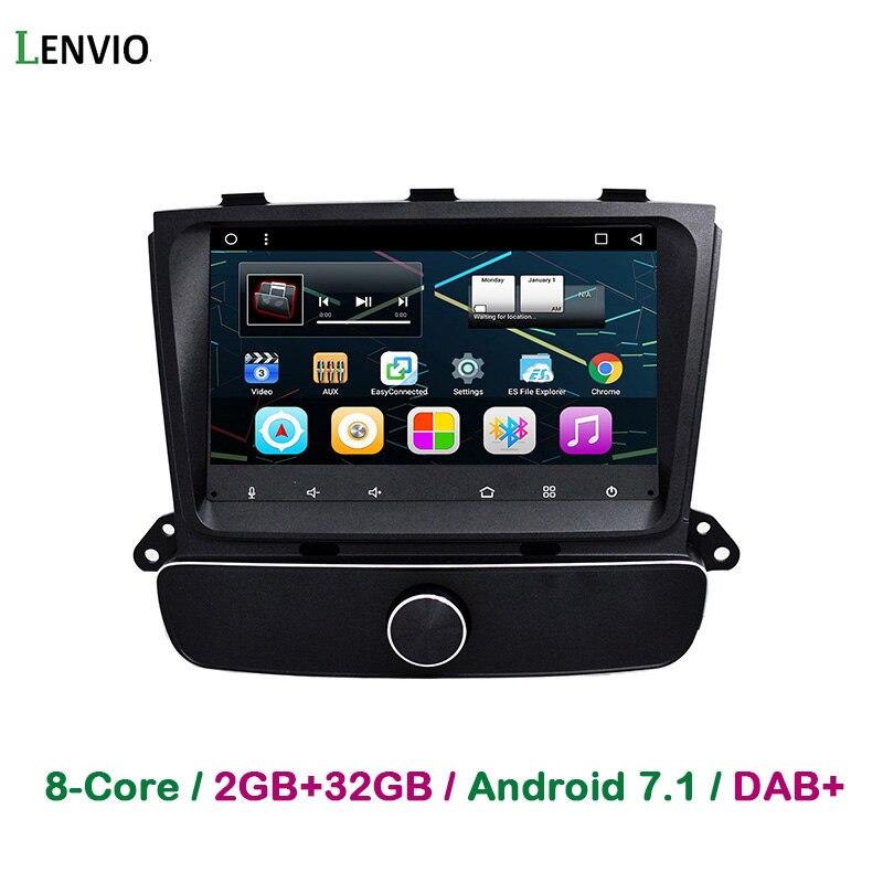 Lenvio 8 IPS 2 GB RAM Octa Core Android 7,1 reproductor de DVD GPS para KIA Sorento 2013 de 2014 alta versión Audio Radio espejo enlace DAB